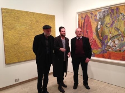 John Webb, Michael Bates at the Archibald, Wynne, Suleman Prize event 2014