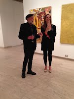 John Webb with Dominique at The Archibald, Wynne and Suleman Prize announcements 2014