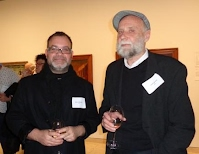 Mike Barnard and John Webb at the 2014 Archibald, Wynne and Suleman Prize announcements