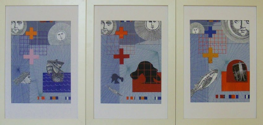 John Webb: Coming of the Dutch #2 (2015) framed triptych