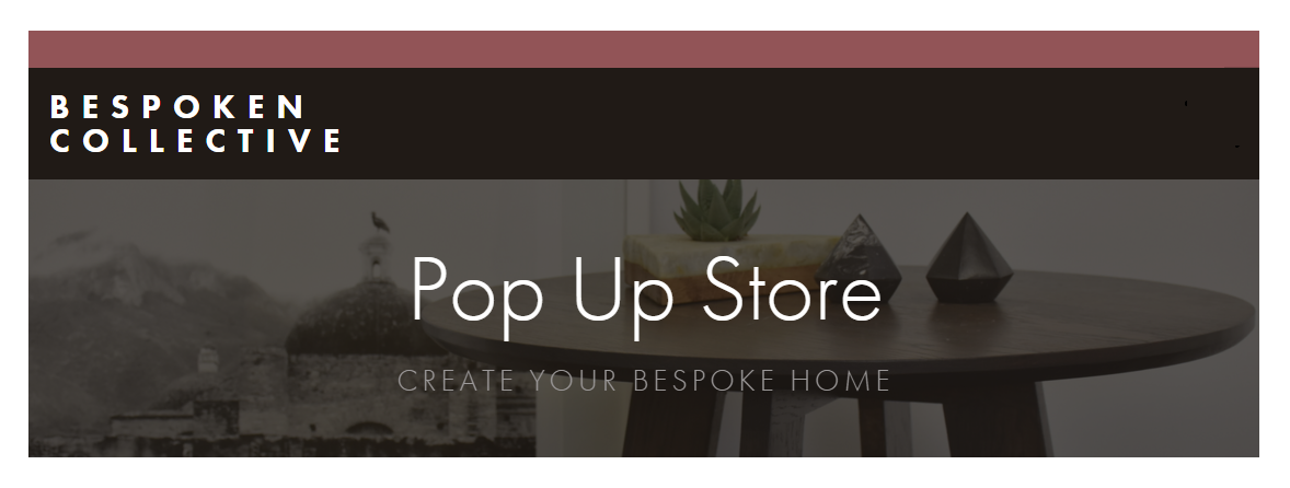 Bespoken Collective Pop Up store heade